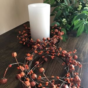 Other - Mini Pumpkin Garland Candle Ring Pair